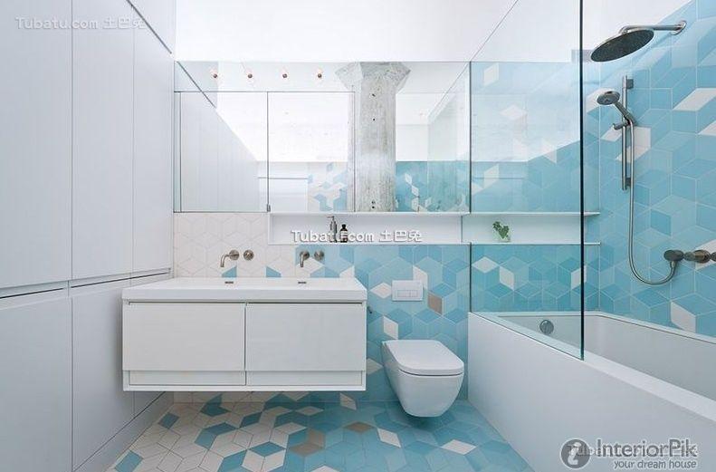 Minimalist apartment Interior bathroom decoration picture 2016