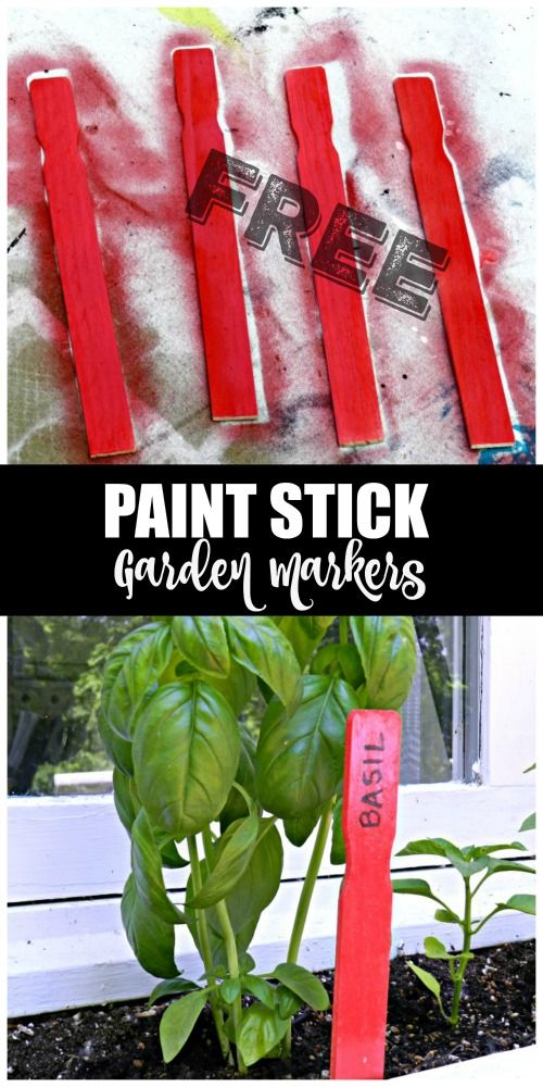 These Free Paint Stick Garden Markers Are So Adorable And Can Be Made In Minutes You Get Sticks At Home Depot