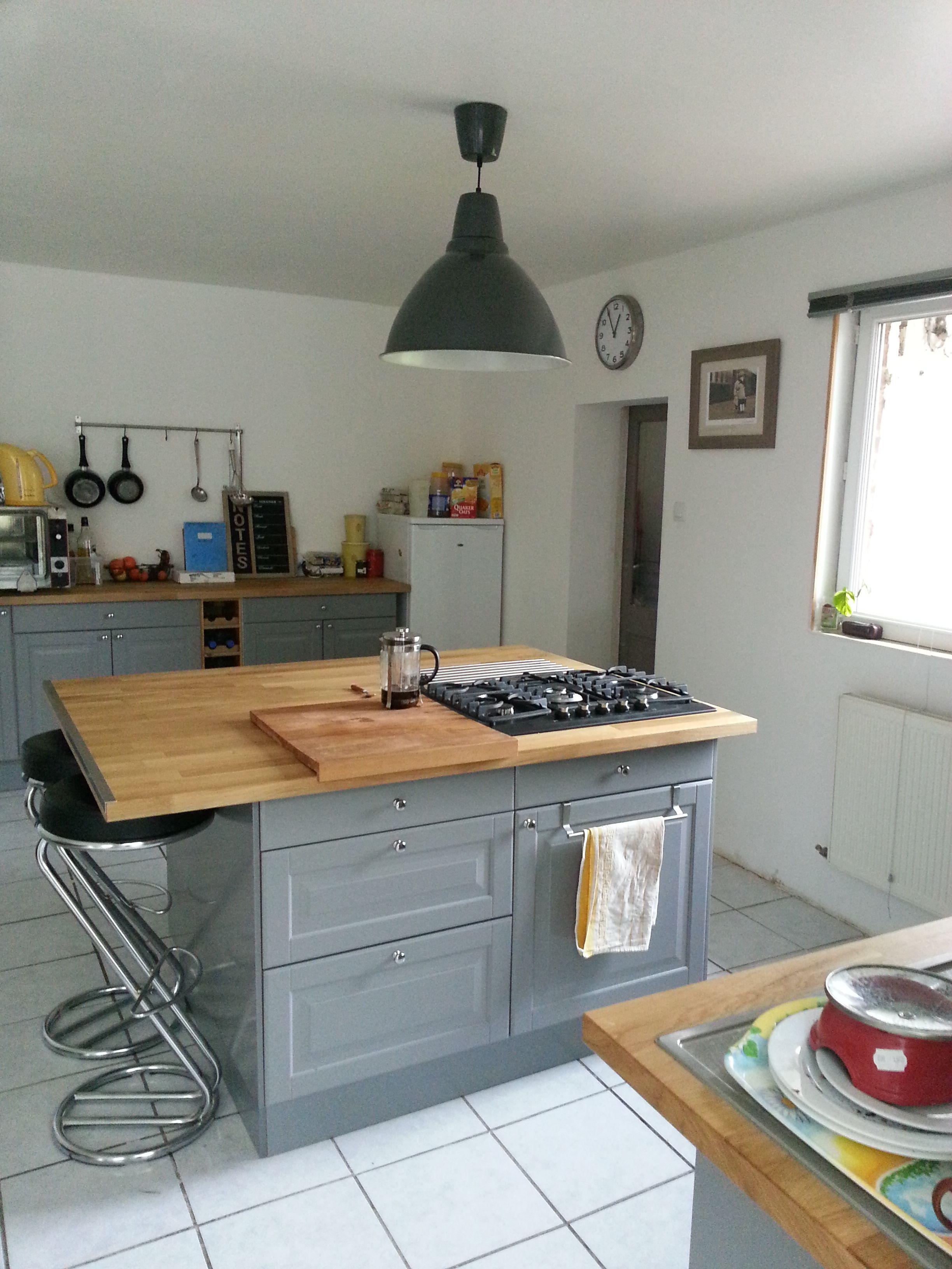 Cuisine Ikea Grise Plan De Travail Bois Kitchen Design Cuisine Ikea Home