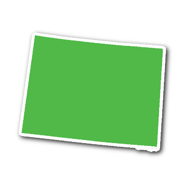 Colorado State Shape Outline Sticker Lime Green State Shapes Wyoming State Wyoming