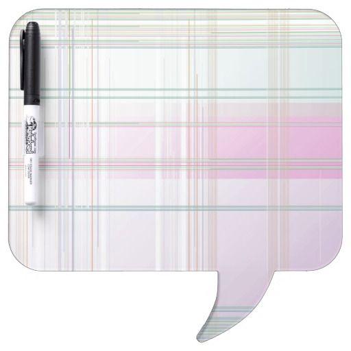 Pale Pastel Plaid Dry-Erase Boards