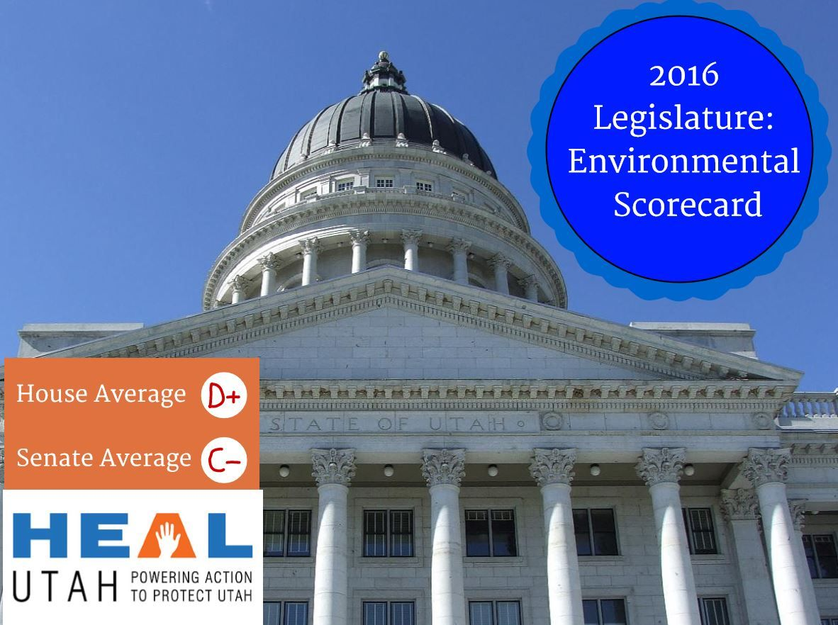 Most Senators and Representatives Receive Poor or Failing Grades HEAL Utah today issued legislative grades for the 2016 State Legislative Session, evaluating the voting record of the state's Representatives and Senators. Letter grades were assigned based on voting records on a dozen separate bills that directly affect air quality, renewable … Continue reading