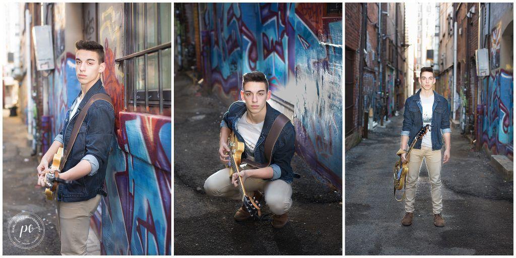 Knoxville | TN | Senior boy | Outdoors | Senior pictures | Pixel Chicks Photography | GQ | Senior boy pose | downtown | urban | smoke bomb |