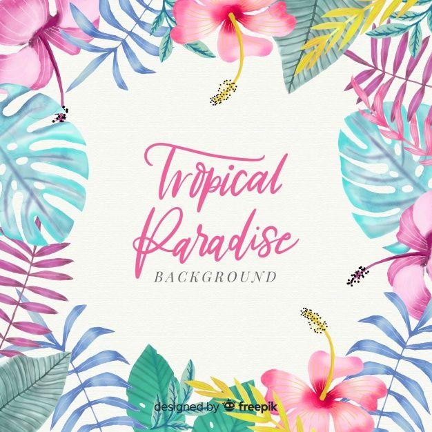 Baixe Fundo Tropical Aquarela Colorida Gratuitamente Aquarelle