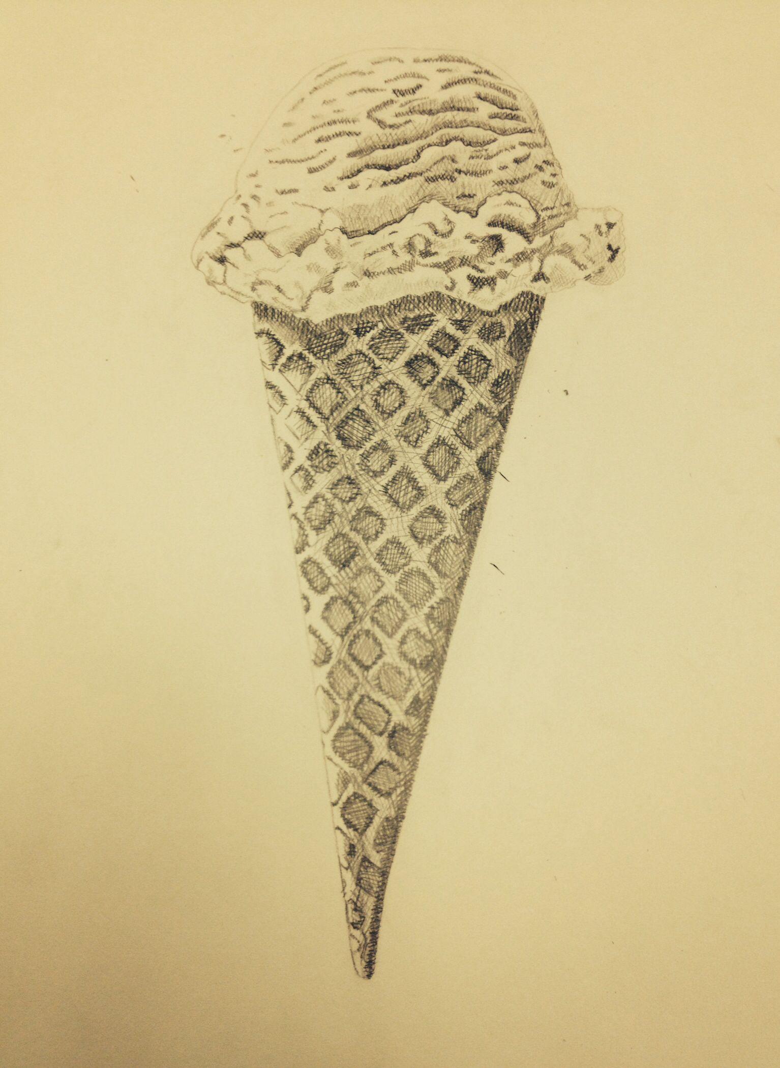 Cross Hatched Ice Cream Artsy Fartsy Artsy Ice Cream