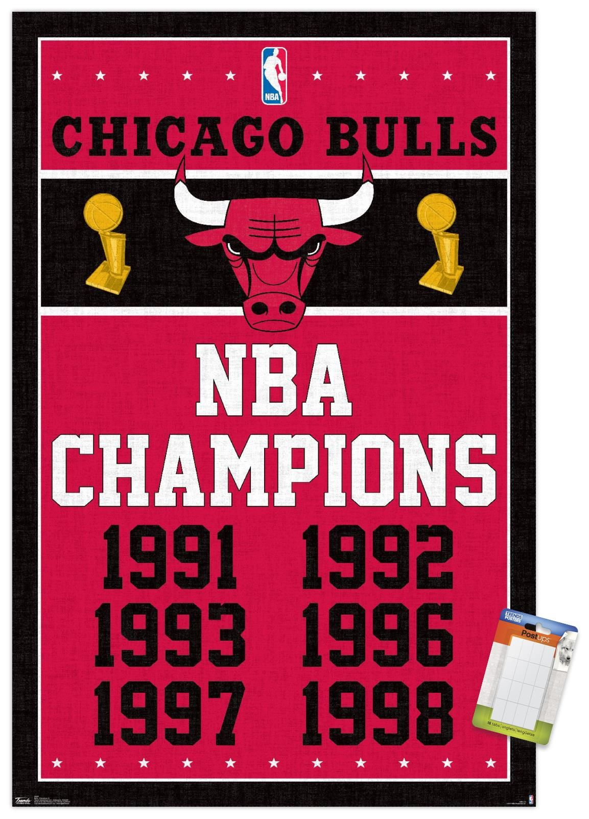 Nba Chicago Bulls Champions 13 Walmart Com In 2021 Chicago Bulls Chicago Bulls Logo Nba Chicago Bulls