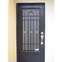 Puertas de forja puerta1 pinterest portones de forja for Puertas principales de herreria elegantes