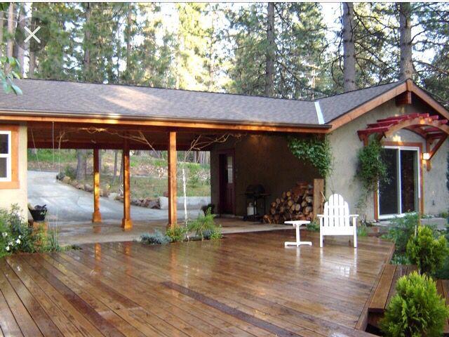 Deck Built Connecting Carport To Back Porch Carport