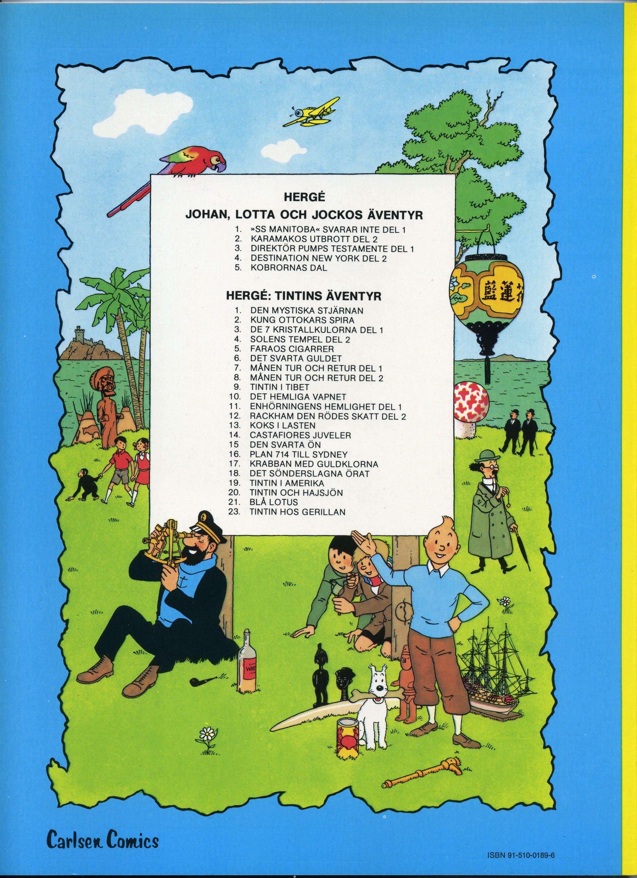 Tintin and the Swedish flag.