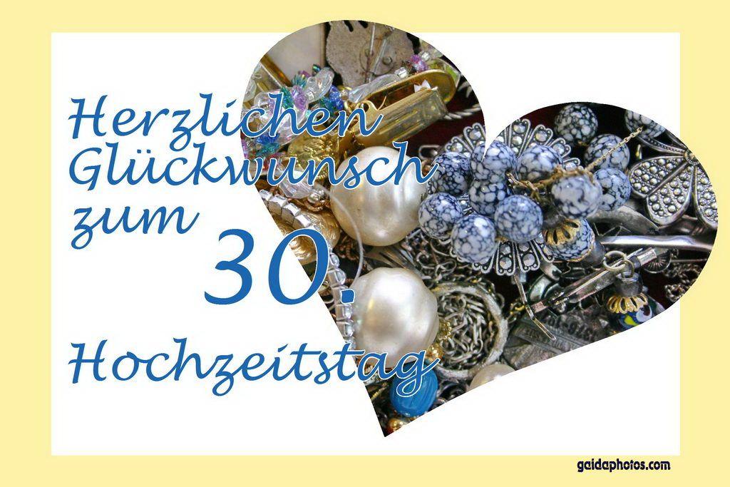 30 Hochzeitstag Perlenhochzeit Grusskarten Hochzeit Pinterest