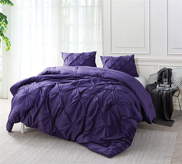 Purple Reign Pin Tuck Full Comforter Oversized Full Xl Bedding