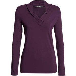 VIS LYCRA SHAWL COLLAR L/S TEE t-shirts Esprit