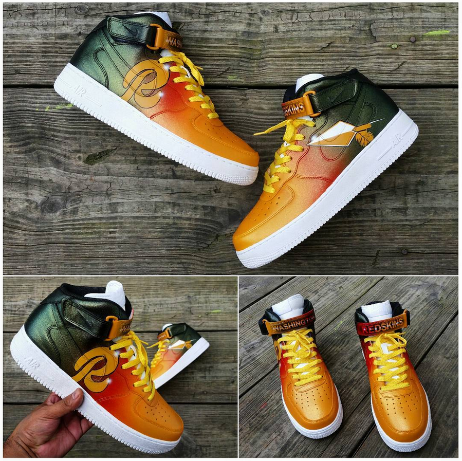 "the best attitude 2f96f d7f6a Air Force 1 ""Redskins"" (by dezcustomz) Nike Air Force Ones,"