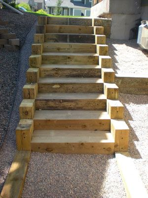 Best How To Build Steps With Timbers Google Search Outdoor 400 x 300