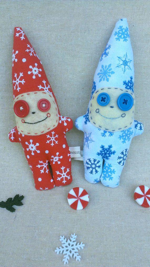 Snowflake Gnome Plush Dolls by MsBittyKnacks on Etsy, 6