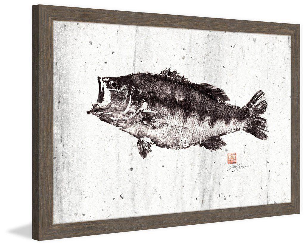 Black Bass I - Marmont Hill   Framed Print Art   Pinterest