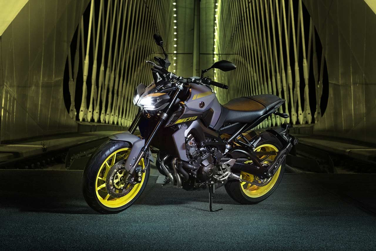The new 2018 Yamaha MT-09 Hyper naked motorcycle has been