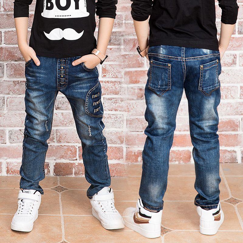 Año nuevo, pantalones vaqueros chico Ajuste: 3 4 5 6 7 8 9 ...