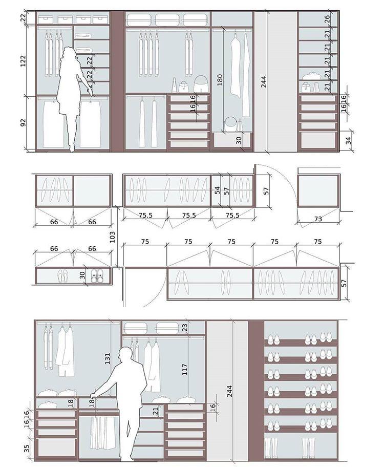 Instagram Design De Closet Layout De Armario Ideias Para Interiores