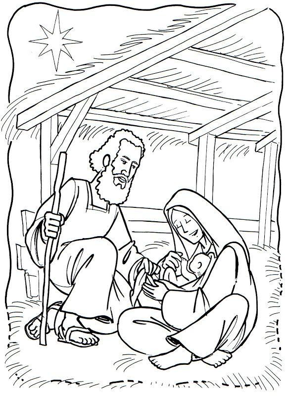 3 El nacimiento en Belen | DIBUJOS PARA COLOREAR CRISTIANOS ...