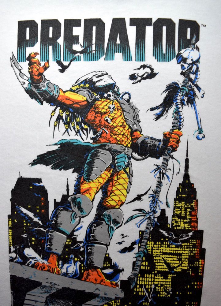 1991 unworn PREDATOR rooftop t-shirt vtg 80s cult horror movie Schwarzenegger XL #FruitoftheLoom #GraphicTee