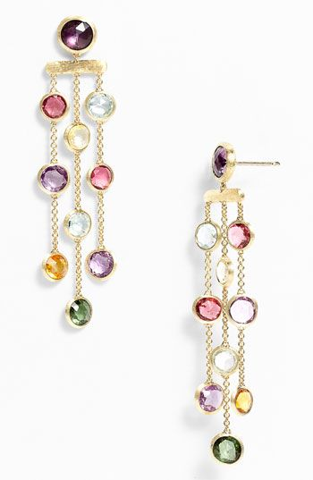Marco Bicego 'Mini Jaipur' Triple Strand Chandelier Earrings available at #Nordstrom