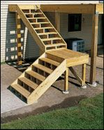Perfect Install Post Anchors To The Footing U0026 Frames For The Landings · Deck StepsFloating  ...
