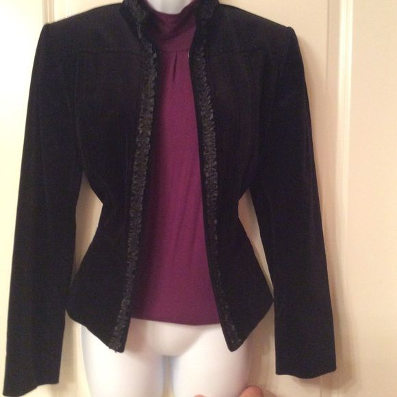 Black velvet jacket In mint condition black velvet jacket Tahari Jackets & Coats