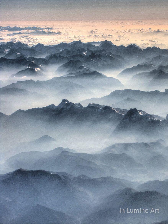 Foggy Dawn Scenery Photography Foggy Nature Sunrise morning fog mountain range dawn