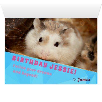 Hammyville Hamster Surprise Happy Birthday Card Zazzle Com Happy Birthday Cards Birthday Cards Hamster