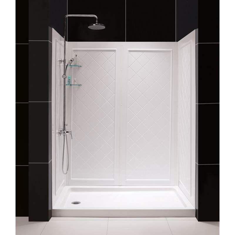 Dreamline Shbw 1462743 01 White Build Com With Images Shower