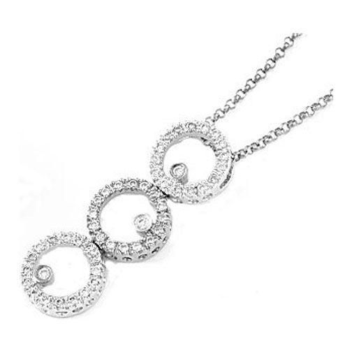 Triple circle of love diamond pendant 050 tcw in 14 karat white triple circle of love diamond pendant 050 tcw in 14 karat white gold aloadofball Choice Image