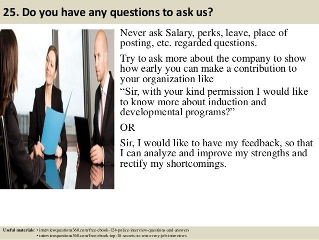 124 police interview questions and answers pdf