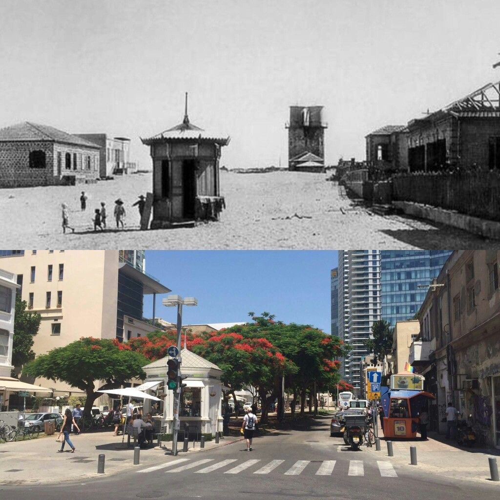 Tel Aviv: Then & Now  What a difference 100 years makes!   Via: Yossi Bahary