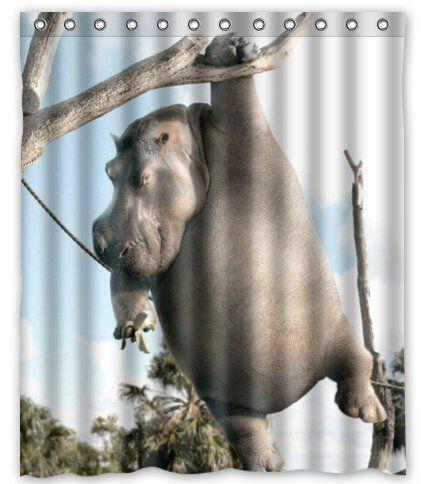Creative Bath Hippo White Shower Curtain 60 X 72 For More