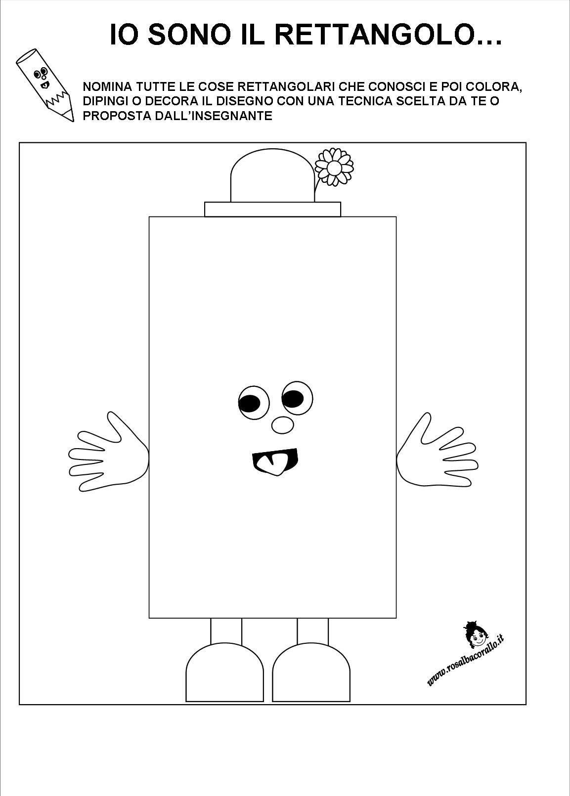 Schede didattiche figure geometriche per bambini di 3 4 for Schede didattiche scuola infanzia 3 anni
