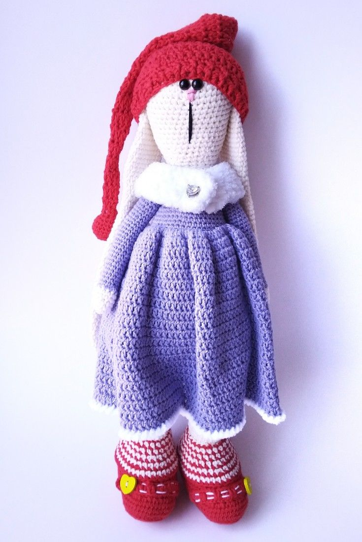 Crochet TonTon Bunny Doll Amigurumi Free Patterns - Crochet Doll | 1102x735