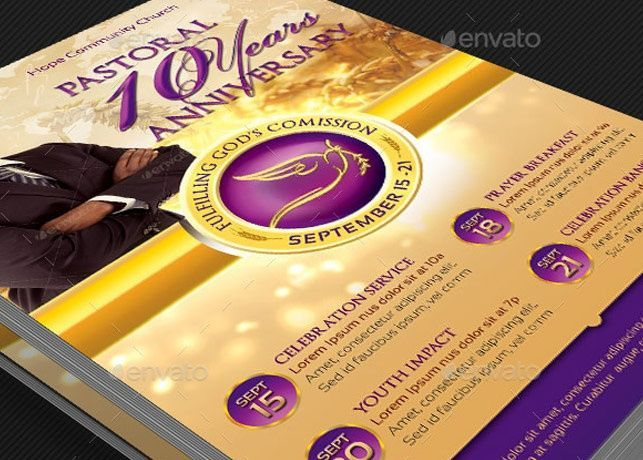Clergy Anniversary Flyer Template  Flyer Template Anniversaries