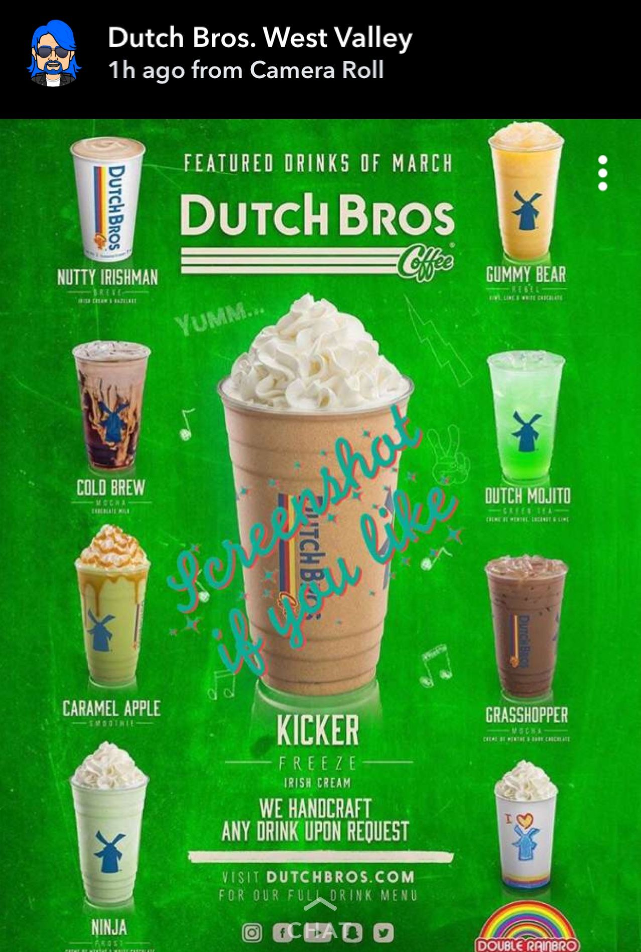 Pin By Stephanie Santana On Dutchbros Dutch Bros Drinks Dutch Bros Dutch Bros Secret Menu
