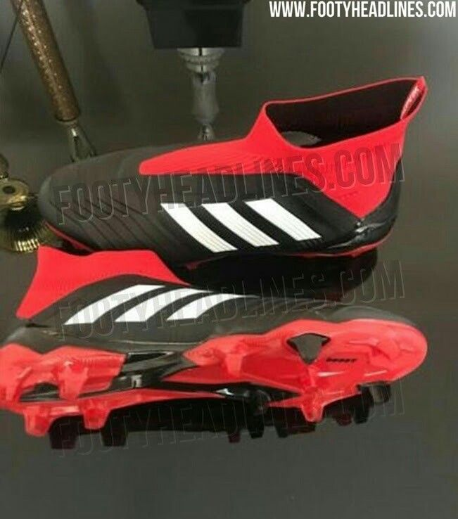 meet 29643 26cf8 Black white red adidas Predator 18+ 2018-2019 boots leaked