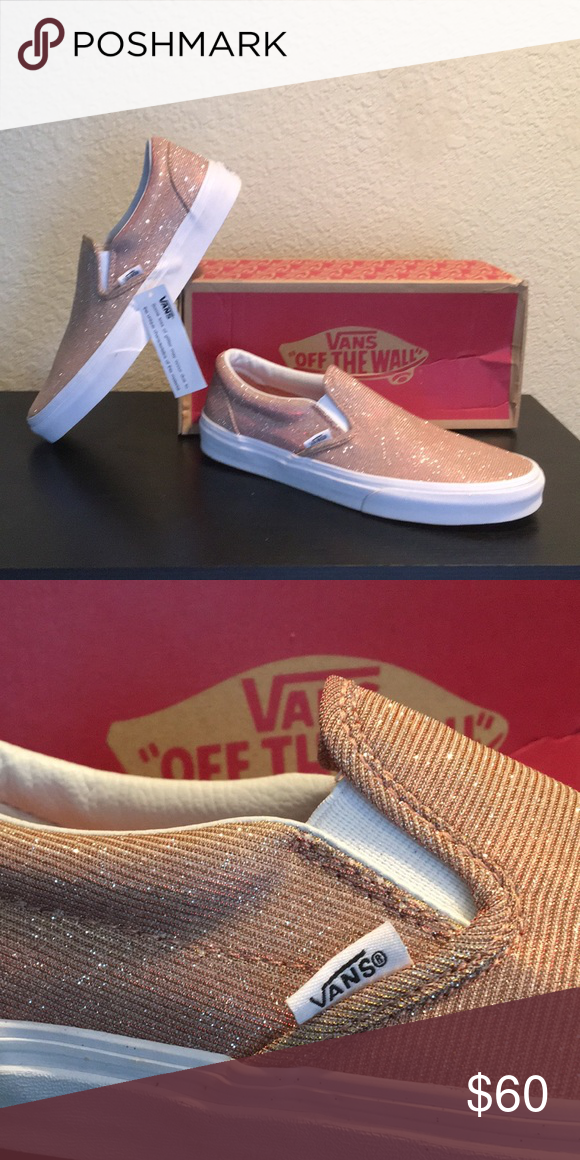 9740a574ca96 Vans Rose Gold Glitter slip on Shoes women s 10 New with box women s size  10   men s size 8.5 Vans Shoes Athletic Shoes