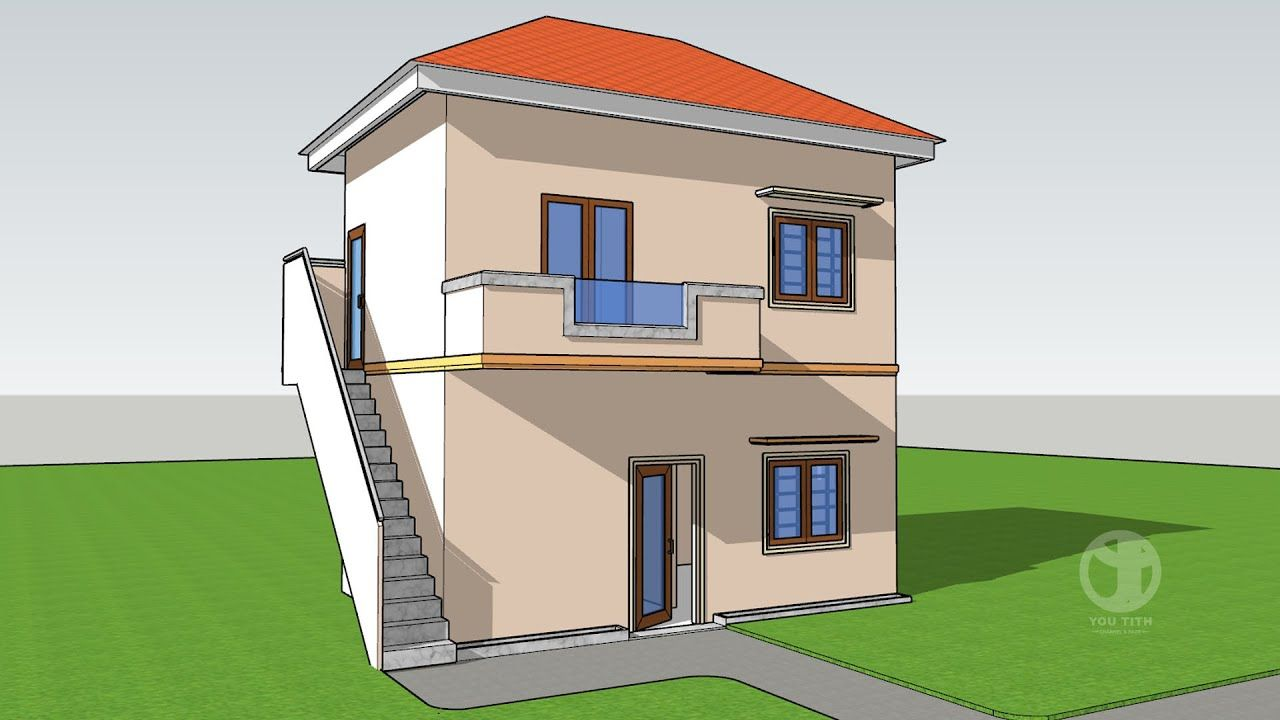 Sketchup 2020 Tuorial Advanced House Building Part 02 Youtith