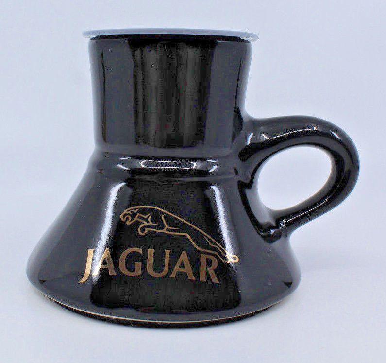 Jaguar Car Logo Black Gold Ceramic Travel Coffee Mug Cup