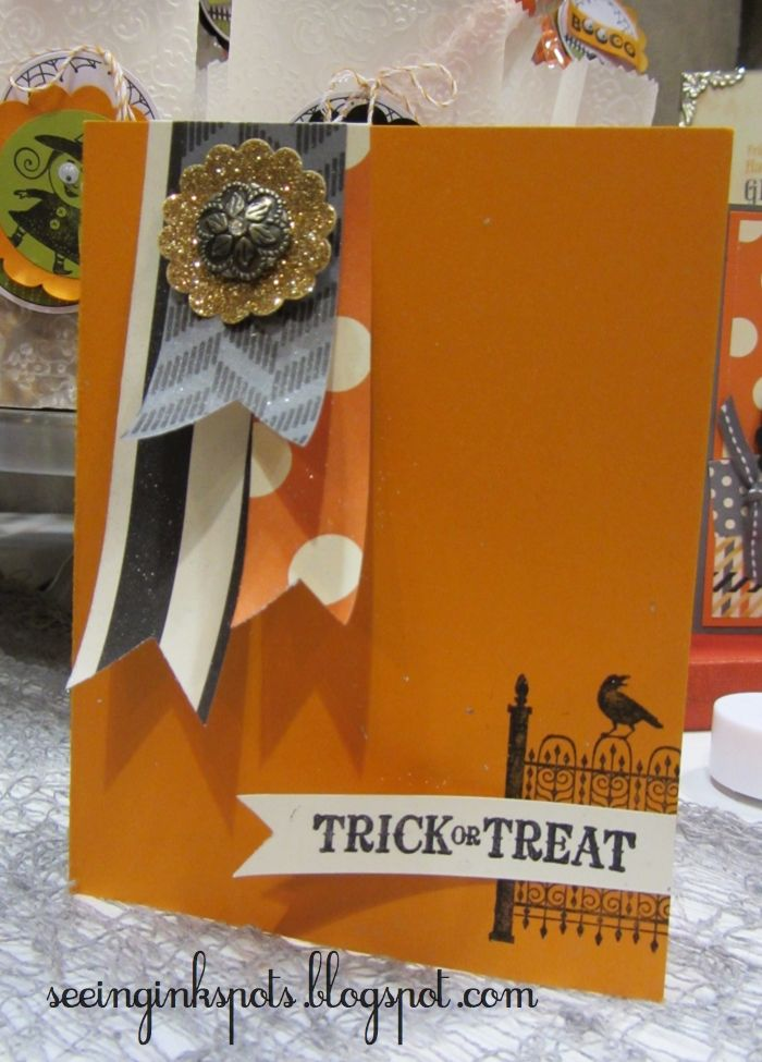 Seeing Ink Spots: A Simple Halloween Card