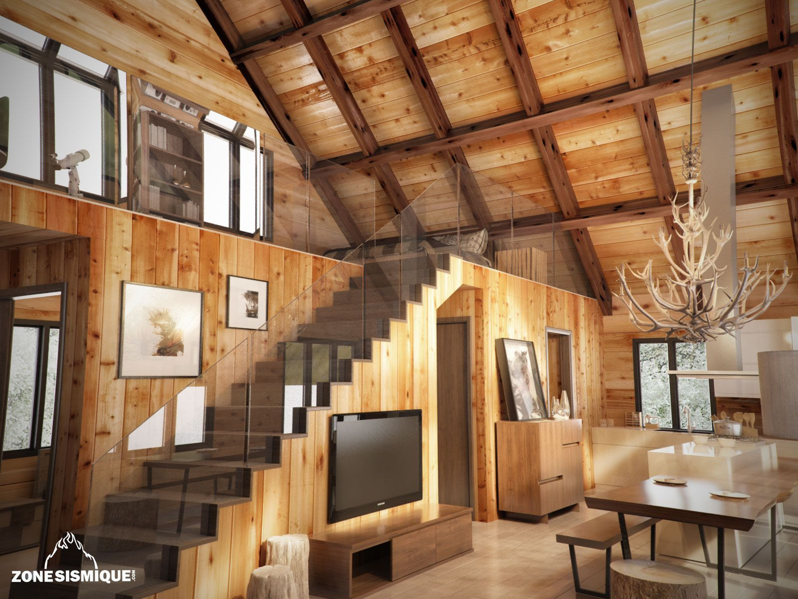 stunning interieur chalet en bois photos awesome interior home satellite. Black Bedroom Furniture Sets. Home Design Ideas