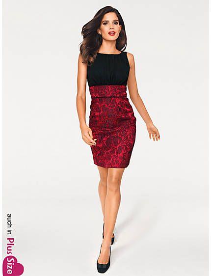 Cocktailkleid schwarz rot