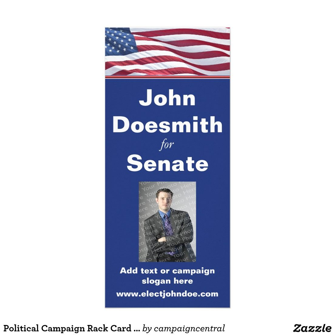 Political Campaign Rack Card Template  Political Election