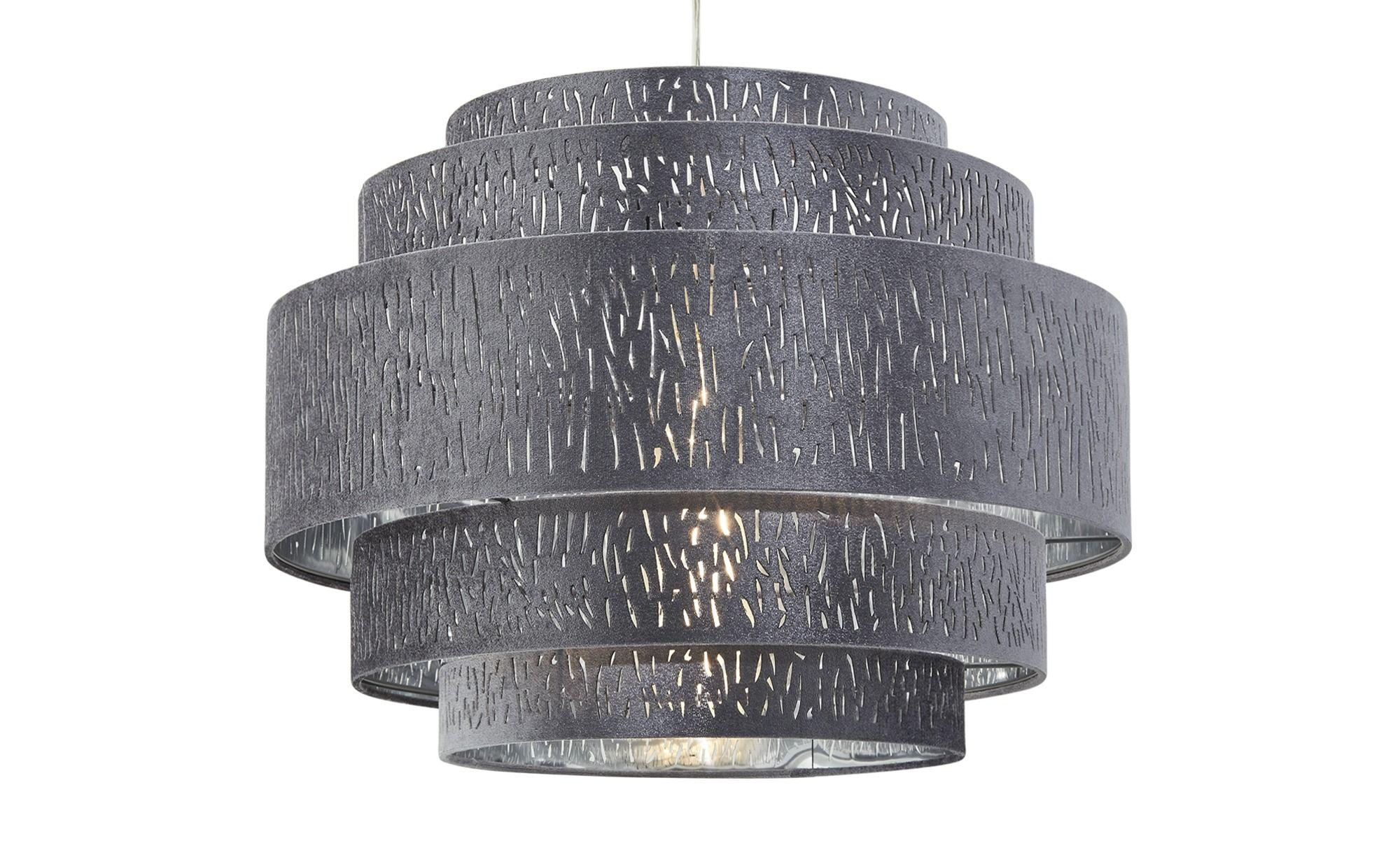 Pendelleuchte 1 Flammig Stoffschirm Grau Silber Silber Masse Cm H 140 O 50 Lampen Leuchten Innenleuchten Pendelleuchten Hoffner Pendelleuchte Lampen Und Leuchten Hangeleuchte