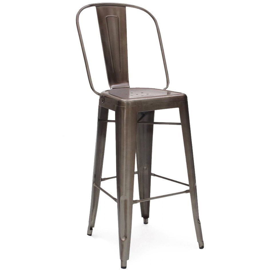 Design Lab MN Amalfi Rustic Matte Bar Chair