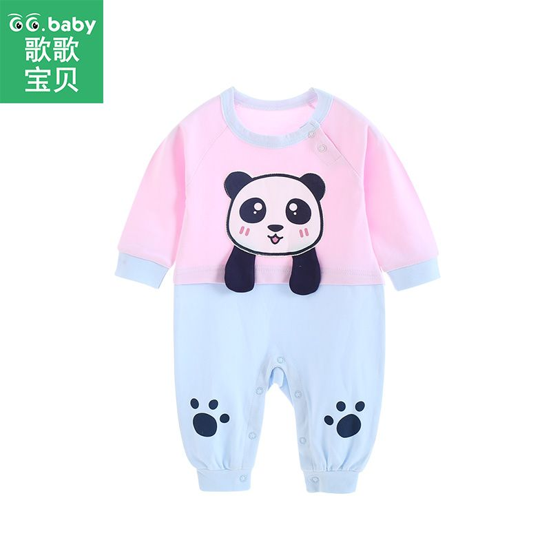 LOOLY Newborn Baby Boys Girls Crew Neck Short Sleeve One Piece Jumpsuit Romper